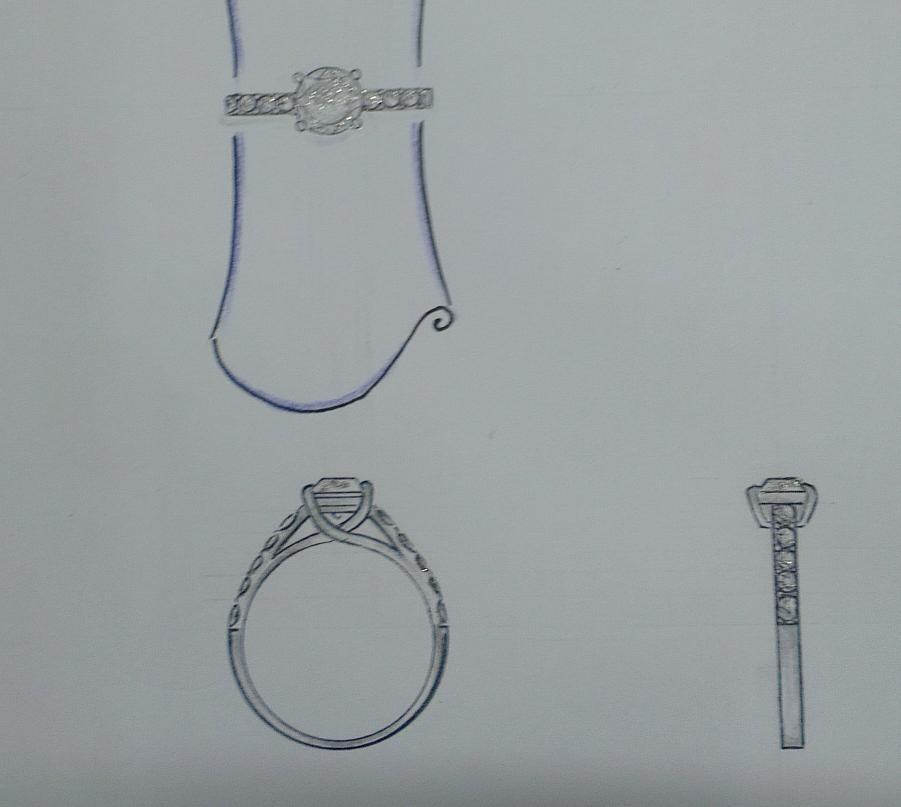 求婚戒指34手绘画